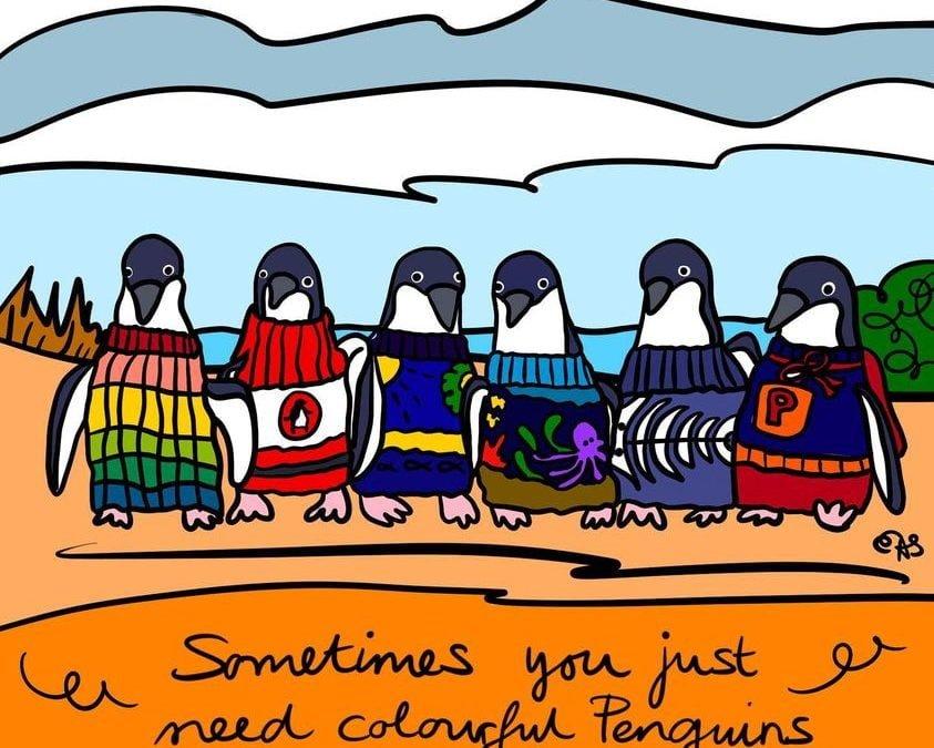 Colourful Penguins